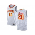 Nike Hawks #20 John Collins White NBA Swingman Association Edition Jersey