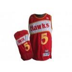 NBA Throwback Atlanta Hawks Josh Smith #5 red jersey