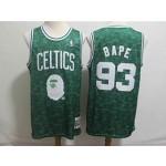 Celtics #93 Bape Green Hardwood Classics Jersey