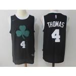 Celtics #4 Isaiah Thomas Black Nike Jersey