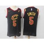 Cavaliers #5 J.R. Smith Black Nike Swingman Jersey