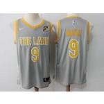 Cavaliers #9 Dwyane Wade Gray The Land Nike Swingman Jersey