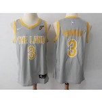 Cavaliers #3 Isaiah Thomas Gray The Land Nike Swingman Jersey