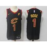 Cavaliers #1 Derrick Rose Black Nike Jersey