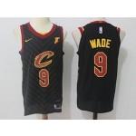 Cavaliers #9 Dwyane Wade Black Nike Jersey