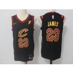 Cavaliers #23 LeBron James Black Nike Jersey