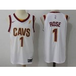 Cavaliers #1 Derrick Rose White Nike Jersey