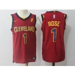 Cavaliers #1 Derrick Rose Red Nike Jersey