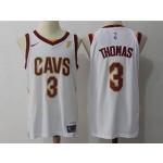 Cavaliers #3 Isaiah Thomas White Nike Jersey