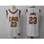 Cavaliers #23 LeBron James White Nike Jersey
