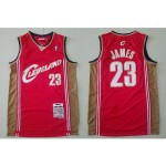 NBA Throwback Cleveland Cavaliers LEBRON JAMES #23 Red