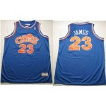 NBA Throwback Cleveland Cavaliers LEBRON JAMES #23 Blue CAVS jersey
