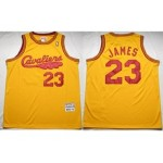 NBA Throwback Cleveland Cavaliers LEBRON JAMES #23 Yellow