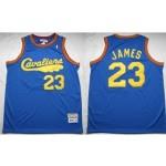 NBA Throwback Cleveland Cavaliers LEBRON JAMES #23 Blue