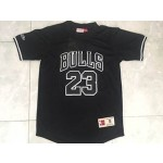 NBA Chicago Bulls JORDAN #23 Black Throwback jersey