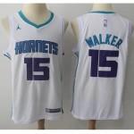 Hornets #15 Kemba Walker White Jordan Brand Swingman Jersey