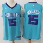 Hornets #15 Kemba Walker Teal Jordan Brand Swingman Jersey