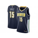Nuggets #15 Nikola Jokic Navy Nike City Swingman Jersey