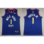 Nike Nuggets #1 Michael Porter Jr. Blue NBA Swingman Statement Edition Jersey