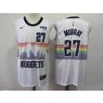 Nuggets #27 Jamal Murray White 2018-19 City Edition Nike Swingman Jersey