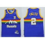 NBA Throwback Denver Nuggets English #2 blue jersey
