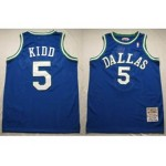 NBA Dallas Mavericks Throwback Jason Kidd #5 light blue