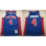 NBA Throwback Detroit Pistons Joe Dumars #4 Blue