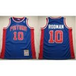 NBA Throwback Detroit Pistons Dennis Rodman #10 Blue