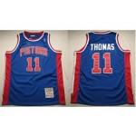NBA Throwback Detroit Pistons Isiah Thomas #11 Blue