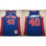 NBA Throwback Detroit Pistons Bill Laimbeer #40 Blue