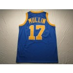 NBA Golden State Warriors Throwback Chris Mullin #17 Blue