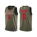 Nike Rockets #0 Russell Westbrook Green Salute to Service NBA Swingman