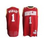 NBA Throwback Houston Rockets Tracy McGrady #1 Red jersey