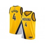 Pacers #4 Victor Oladipo Gold Basketball Swingman Statement Edition 2019-2020 Jersey