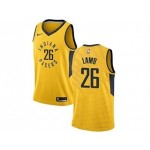 Nike Pacers #26 Jeremy Lamb Gold NBA Swingman Statement