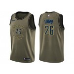 Nike Pacers #26 Jeremy Lamb Green Salute to Service NBA Swingman