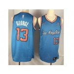 Clippers #13 Paul George Blue Nike Throwback new Jersey