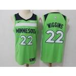 Timberwolves #22 Andrew Wiggins Green Nike Swingman Jersey