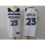 Timberwolves #23 Jimmy Butler White Nike Jersey