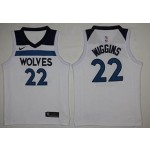 NBA Minnesota Timberwolves Wiggins #22 white Nike Jersey