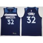 NBA Minnesota Timberwolves Towns #32 Blue Nike Jersey