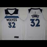 NBA Minnesota Timberwolves Towns #32 white Nike Jersey