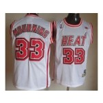 NBA Miami Heat Throwback Alonzo Mourning #33 white jersey