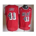 NBA Miami Heat Throwback Glen Rice #41 Red jersey