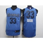 Grizzlies #33 Marc Gasol Blue Nike Authentic Jersey