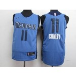 Grizzlies #11 Mike Conley Light Blue Nike Authentic Jersey