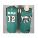 NBA Memphis Grizzlies Morant #12 Green Throwback new Jersey