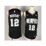 NBA Memphis Grizzlies Morant #12 Black Throwback new Jersey