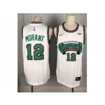 NBA Memphis Grizzlies Morant #12 white Throwback new Jersey