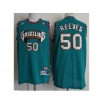 Grizzlies #50 Bryant Reeves Teal Hardwood Classics Jersey